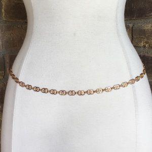 Vintage 90s Belt S Gold Chain Metal